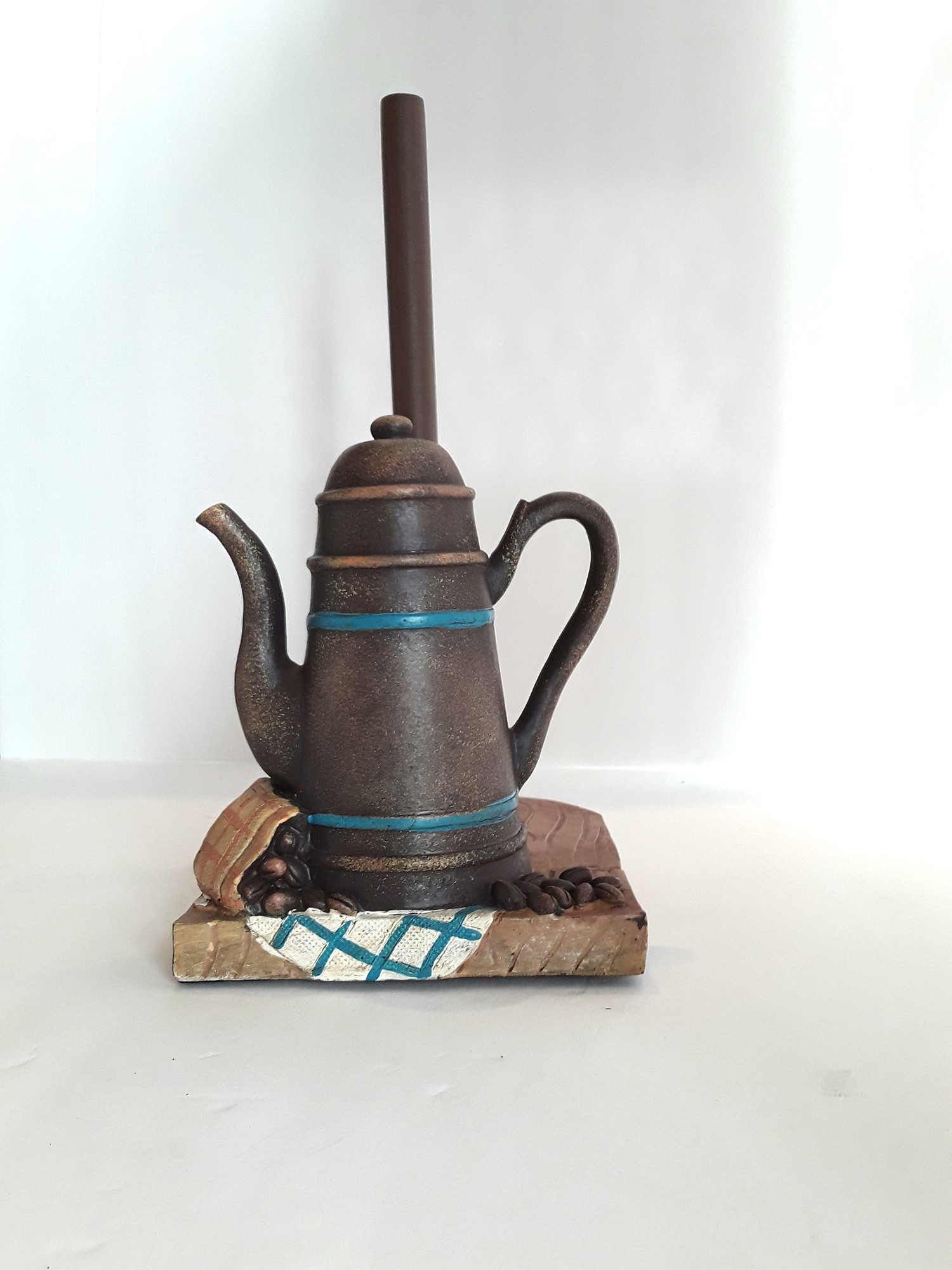 Paper Towel Holder. Cottage cute. Coffee's ready!