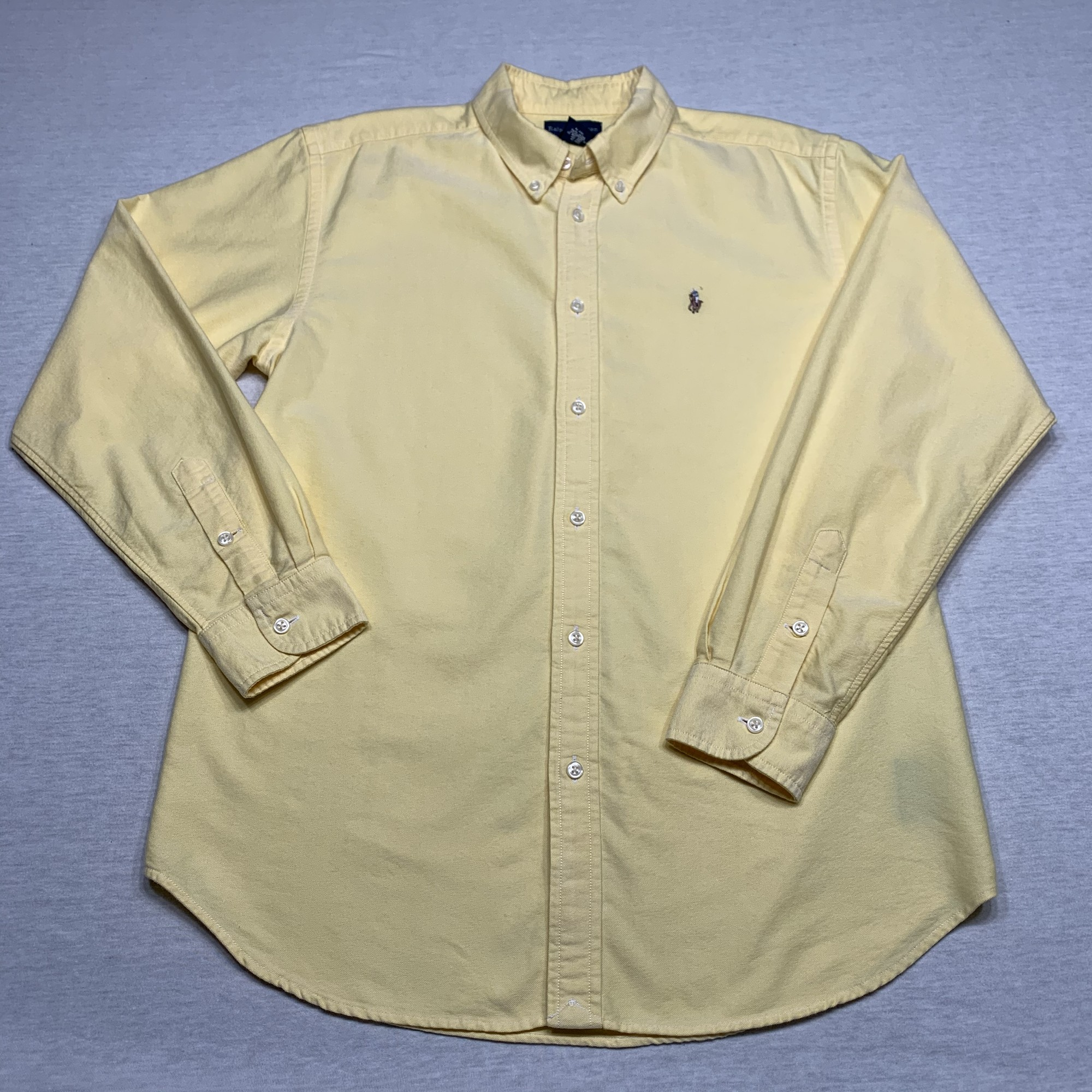 Oxford cloth shirt with button down collar