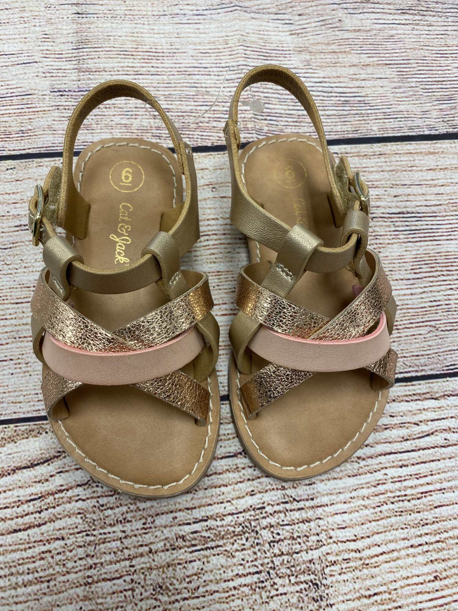 Cat & Jack Sandals, BrnPnk, Size: Shoe 6