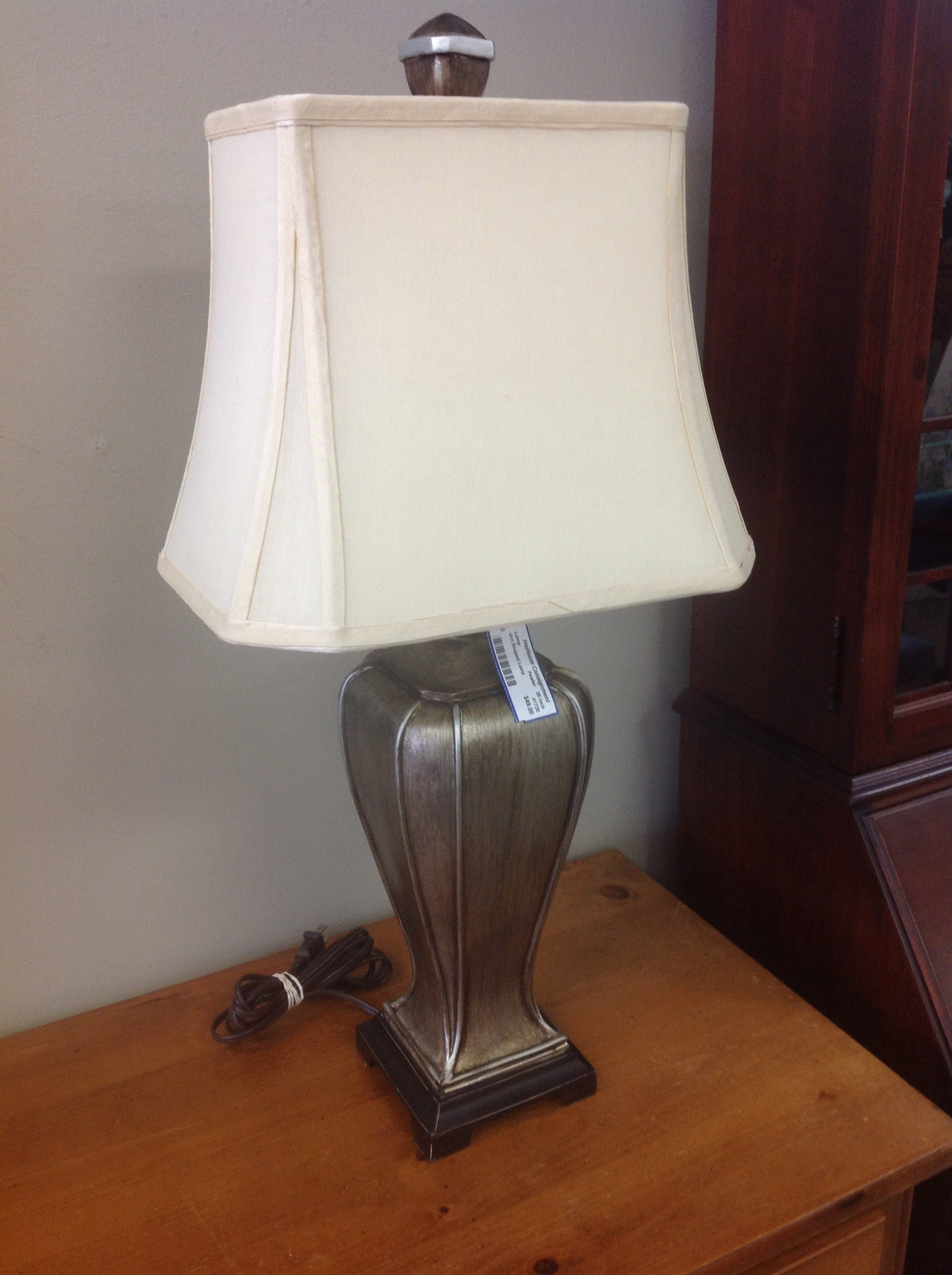 Urn Shaped Lamp, Pewter, Size: 26 Inch