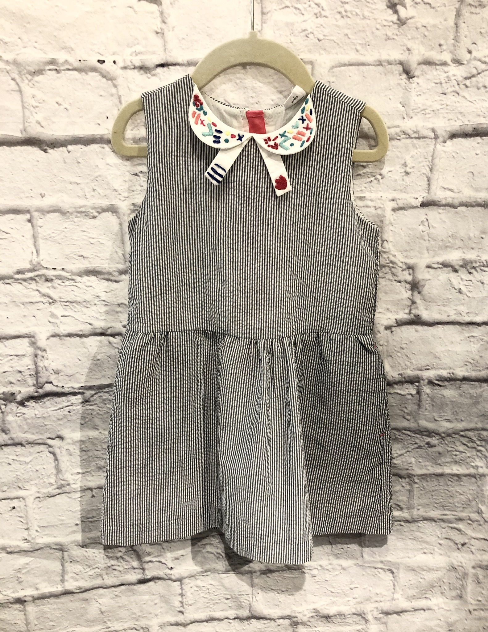 EGG Baby Collar Drss, Grey, Size: 4T