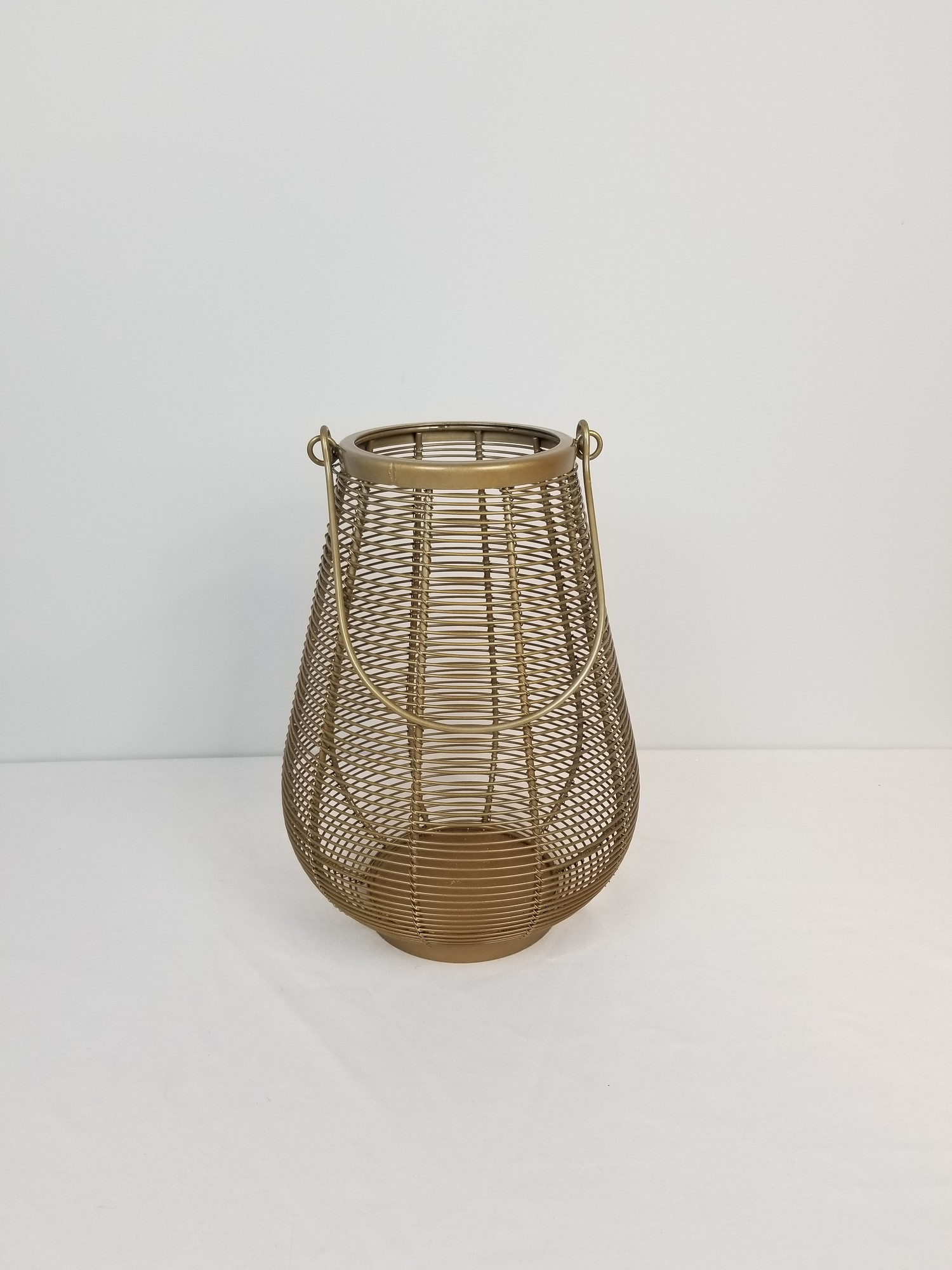"Wire Lantern-Medium, Gold, Size: 12""<br /> Pier 1"