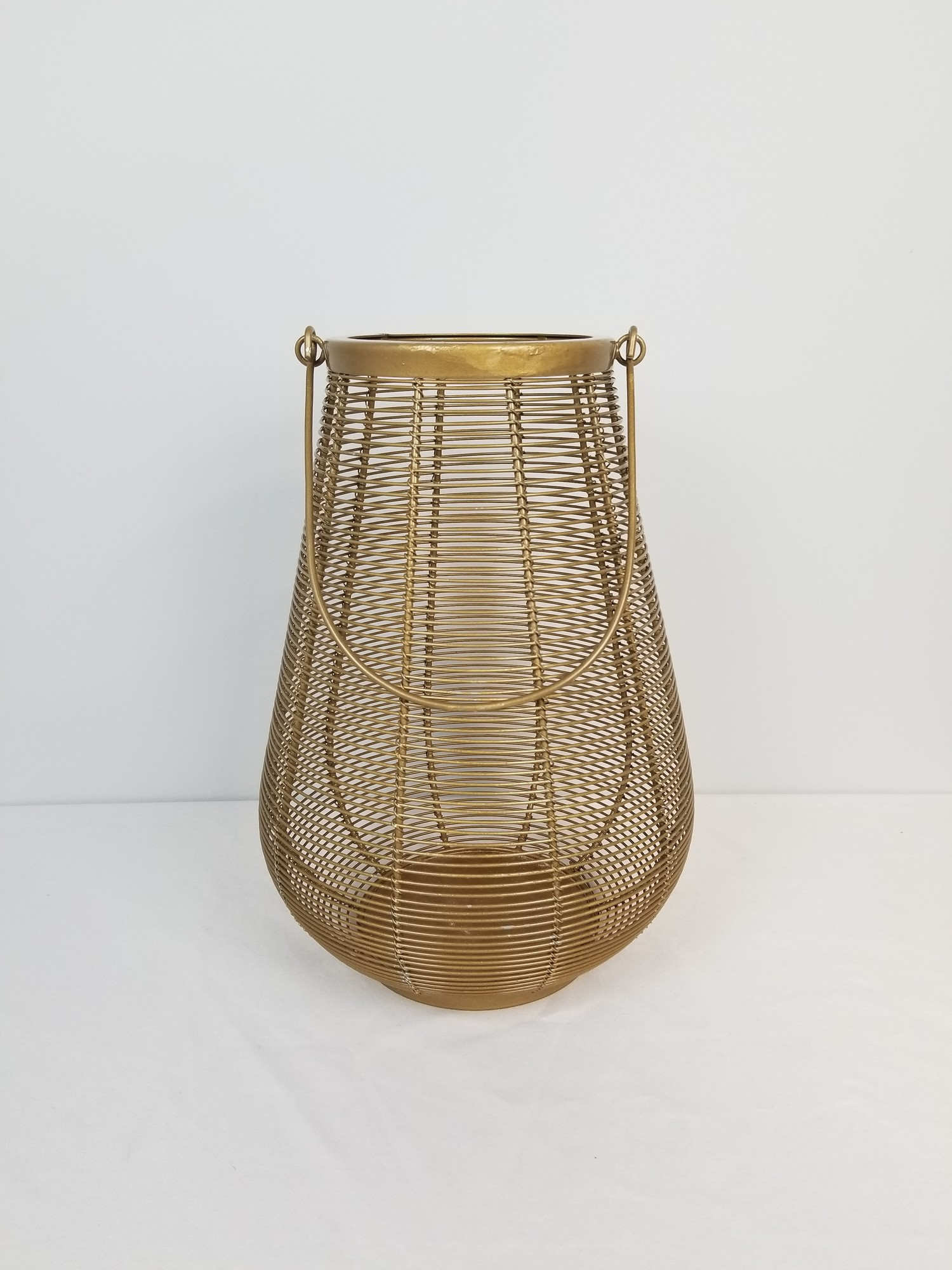 "Wire Lantern-Large, Gold, Size: 15""<br /> Pier 1"