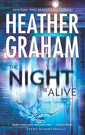 CD Audio Set<br /> <br /> The Night Is Alive<br /> (Krewe of Hunters #10)<br /> by Heather Graham (Goodreads Author)<br /> <br /> Midnight in Savannah<br /> <br /> It's a city of beauty, history & haunting's. And one of the most haunted places in Savannah is a tavern called The Dragonslayer, built in the 1750s. The current owner, Gus Anderson, is a descendant of the original innkeeper and his pirate brother, Blue.<br /> <br /> Gus summons his granddaughter, Abigail, home from Virginia, where she's studying at the FBI Academy. When she arrives, she's devastated to find him dead. Murdered. But Abby soon learns that Gus isn't the only one to meet a brutal and untimely end; there've been at least two other victims. Then Captain Blue Anderson starts making ghostly appearances, and the FBI's paranormal investigation unit, The Krewe of Hunters, sends in Agent Malachi Gordon.<br /> <br /> Abby and Malachi have a similar ability to connect with the dead and a similar stubbornness. Sparks immediately begin to fly: sparks of attraction and discord. But as the death toll rises, they have to trust each other or they, too, might find themselves among the dead haunting old Savannah!