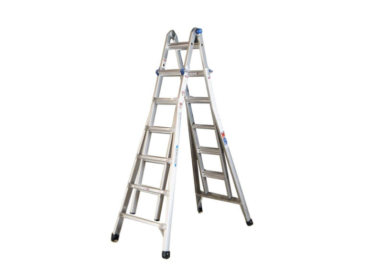 Multi Position Ladder, Werner, MT 26 Multiladder Size: 26 ft. Reach Aluminum Telescoping Multi-Position Ladder with 300 lbs. Load Capacity Type IA Duty Rating<br /> <br /> 5 Ladders in 1 with up to 26 ft. reach and is easily adjustable<br /> Twin Step, Stairway Step, Extension, Wall, and two Scaffold Bases<br /> 300 lb. load capacity multi position ladder ideal for any project<br /> <br /> NO SHIPPING