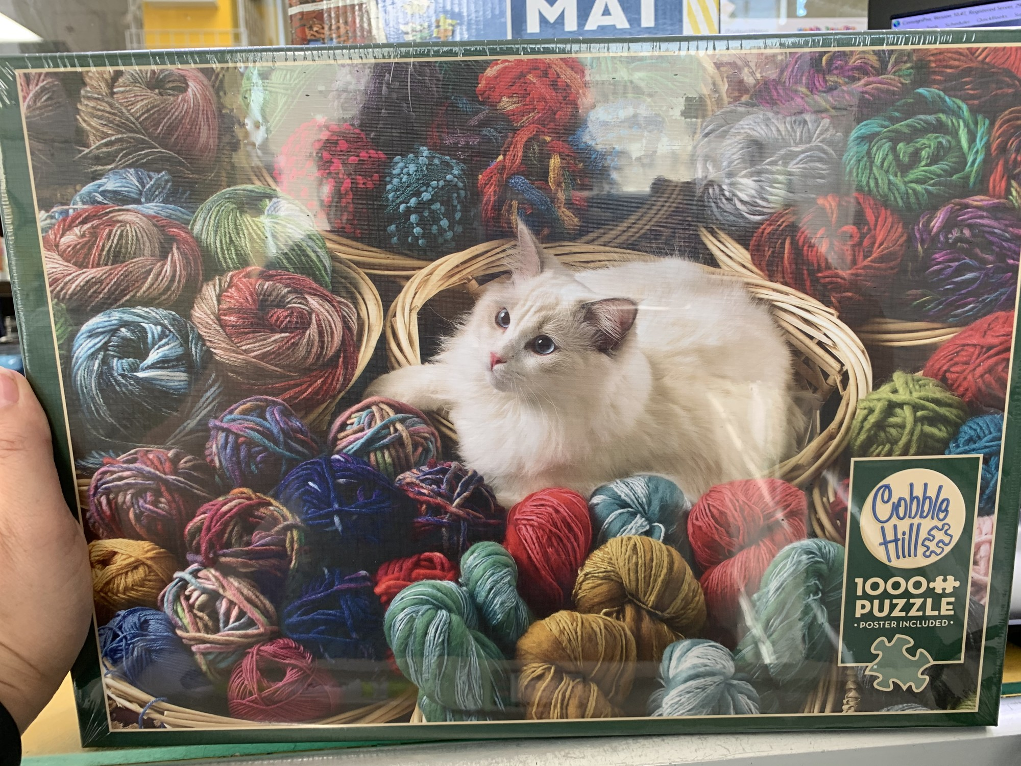 Cat 1000 Piece Puzzle, Yarn, Size: Puzzle