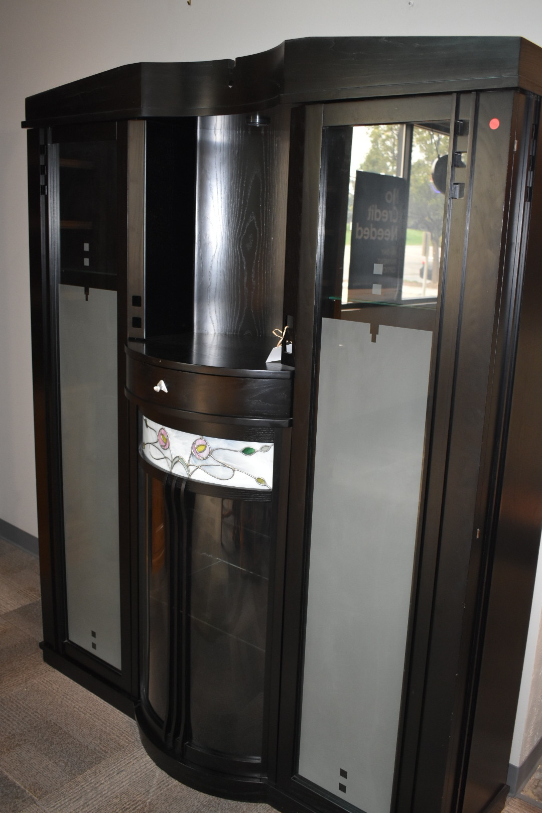 Black Cabinet with glass