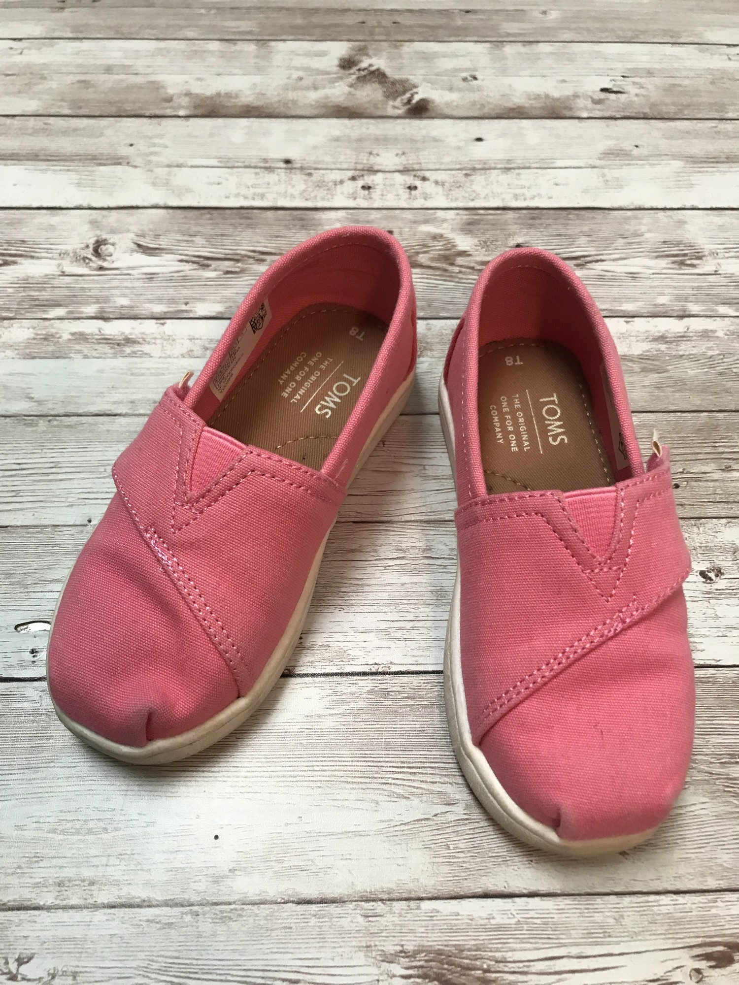 Toms Solid Color, Pink, Size: Shoes 8