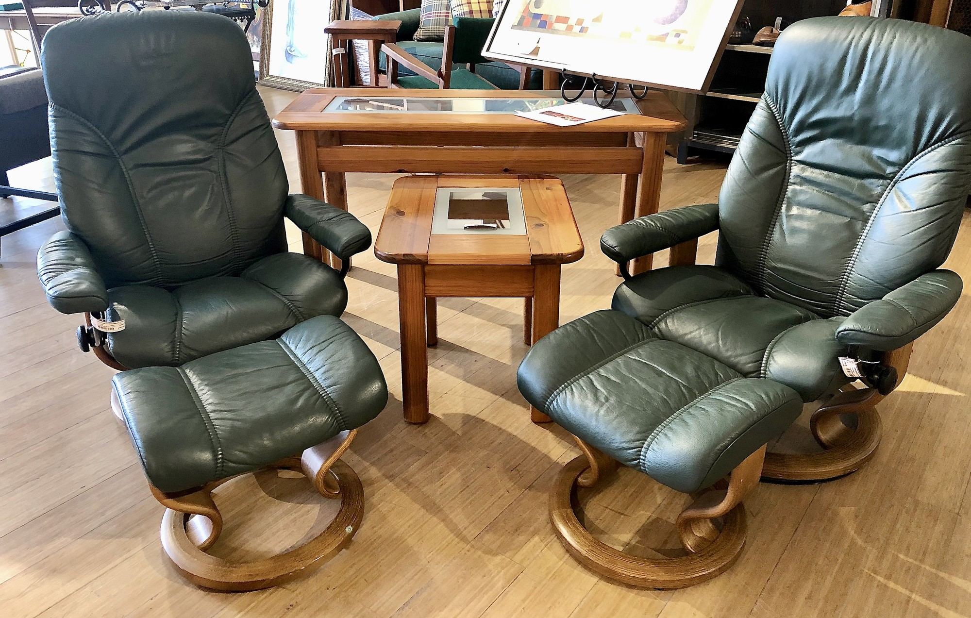 Chair/Ottoman Ekornes<br /> Second one available too - Item #83894