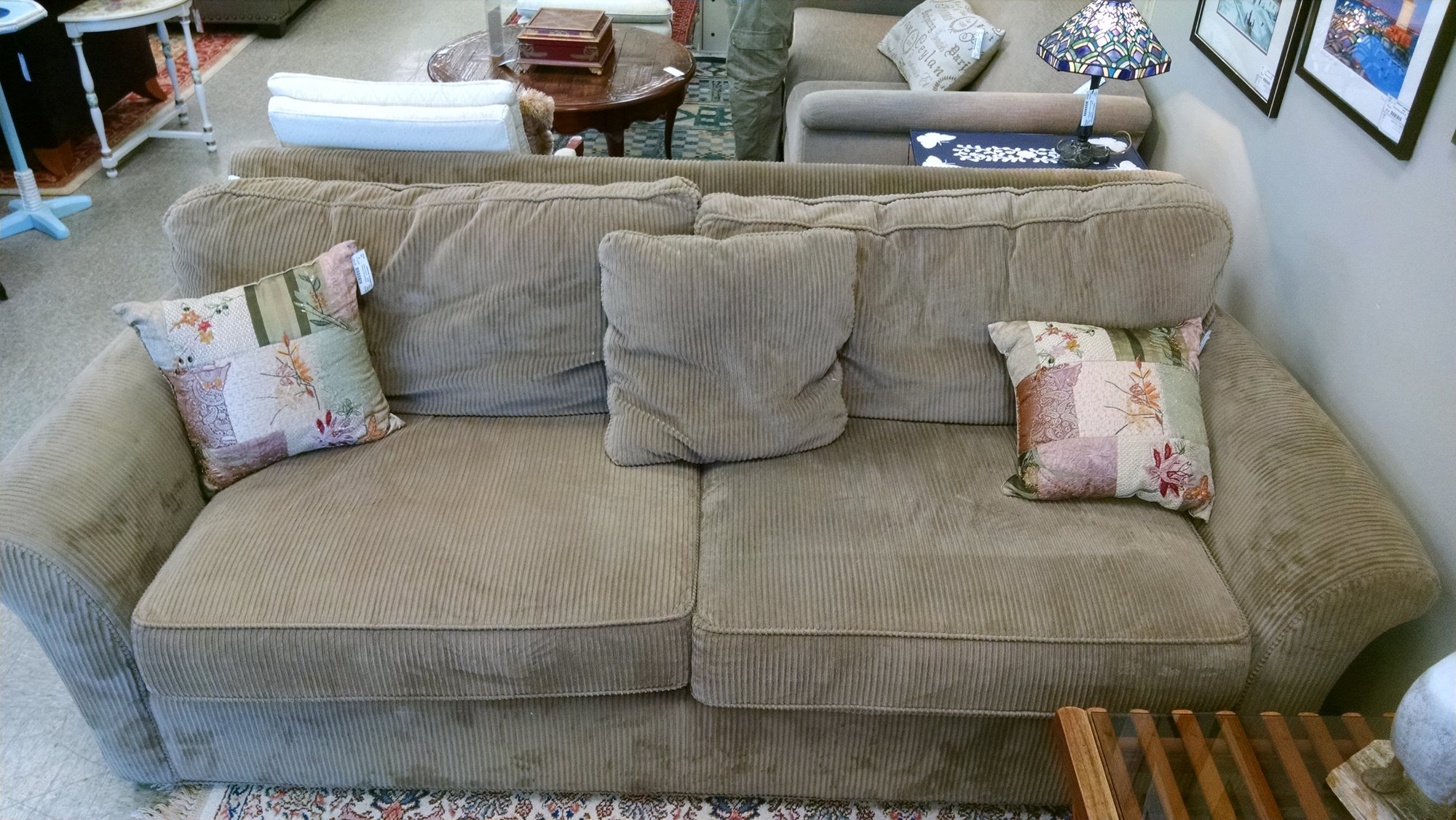 Corduroy 2 Cushion Sofa 90x42x31