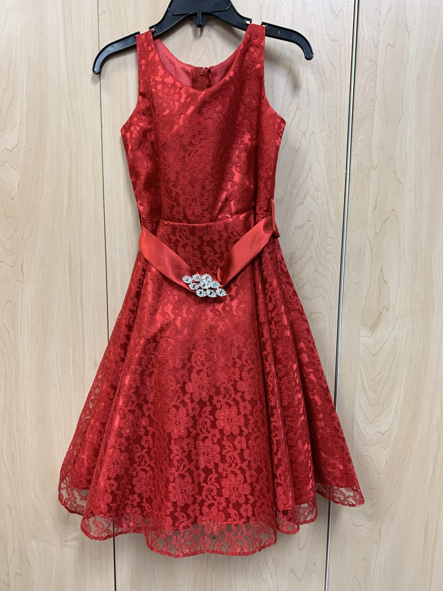 Red Lace overlay Holiday Dress