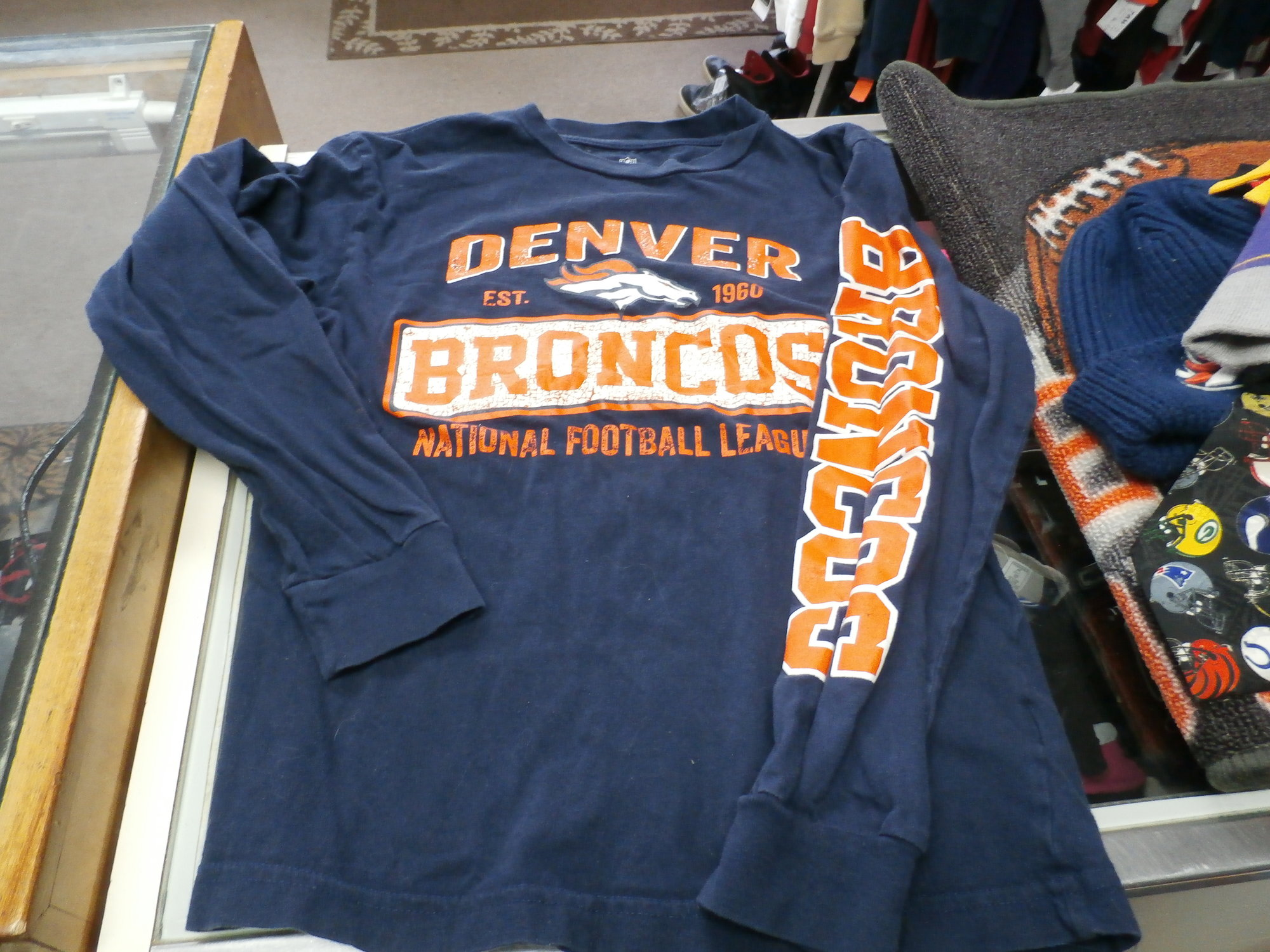 Denver Broncos LS | Recycled ActiveWear ~ FREE SHIPPING USA ONLY~