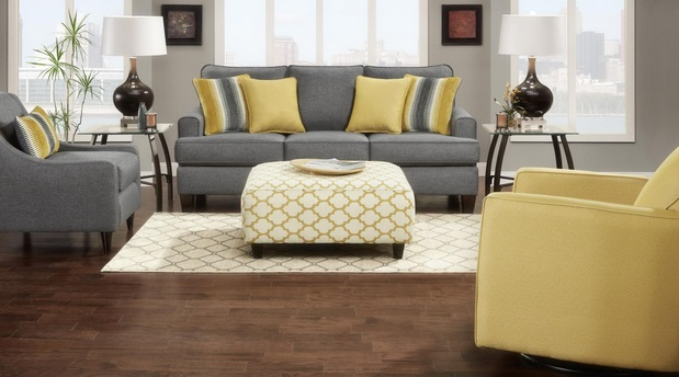 3 Pc Grey Livingroom Set Br Collection Includes