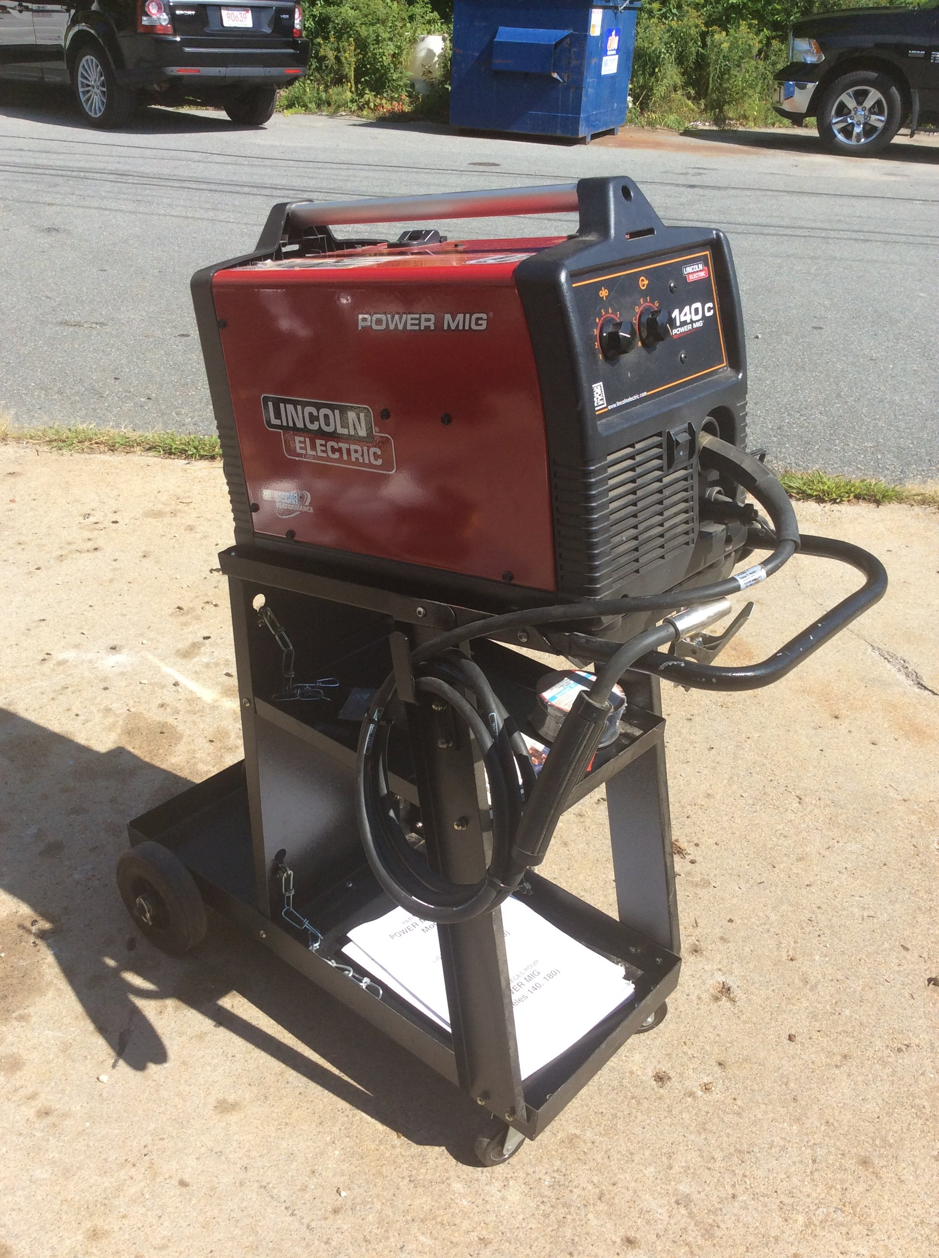 Lincoln 140c Welder Parts Mig Electric Power Kit With Cart Excellent Condition Lightly Used 1936x2592