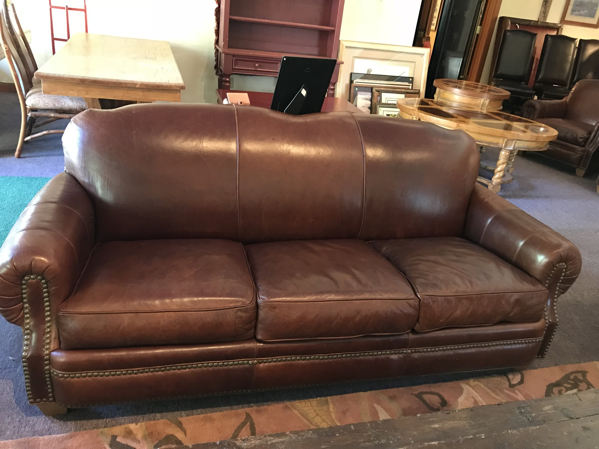 Thomasville Leather Sofa