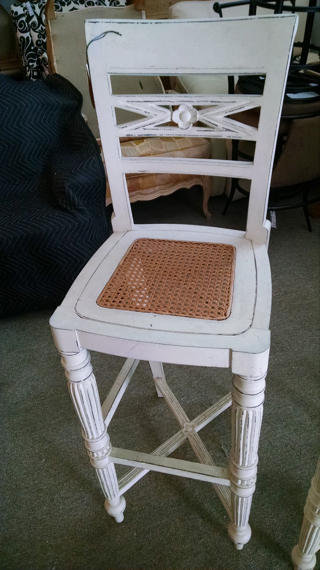 Cane Bottom Counter Stool<br /> Seat 30 inches high
