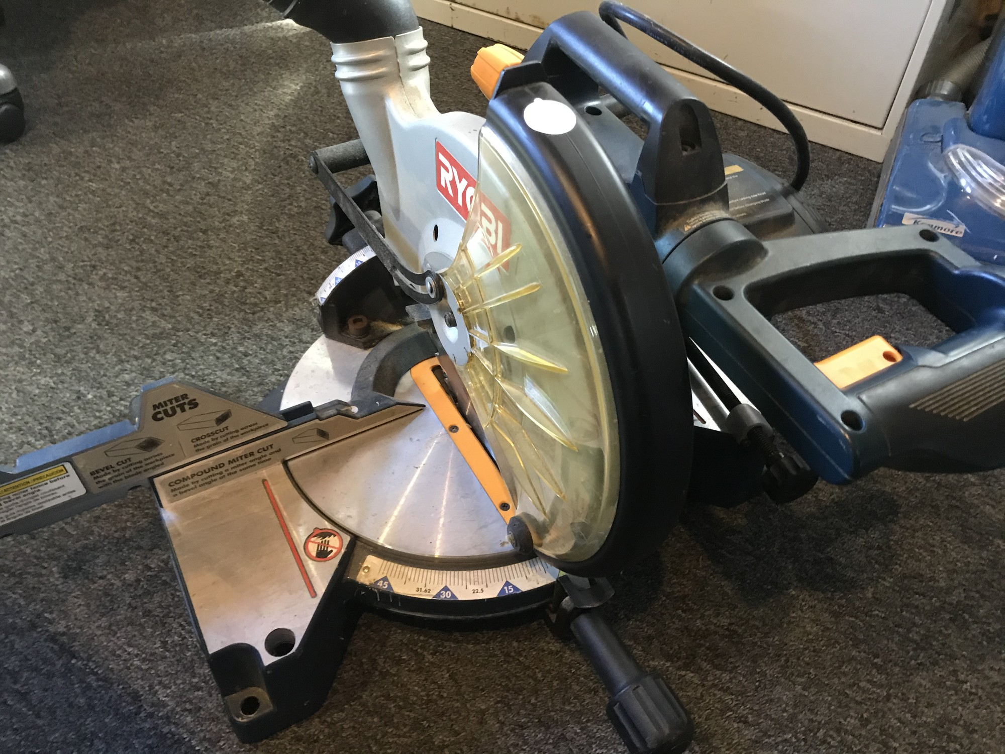 "Compound Miter Saw, Ryobi, Size: 10""<br /> Double Bevel"