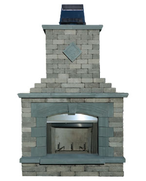 Olde English Paver Outdoor Fireplace Kit Cromwell Concrete